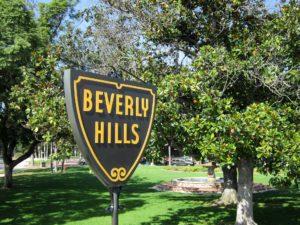 Symbolbild: Straßenschild Beverly Hills