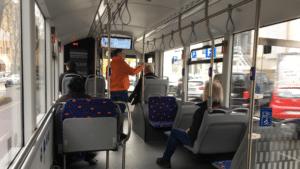 Bild: Innenansicht des 12m Elektrobus