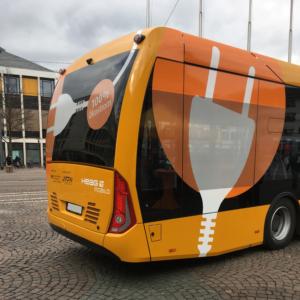 Bild: HEAG nutzt 100% Ökostrom beim Betrieb der E-Fahrzeuge