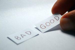 Symbolbild: Good or bad? Nachteile: Pro & Kontra abwägen