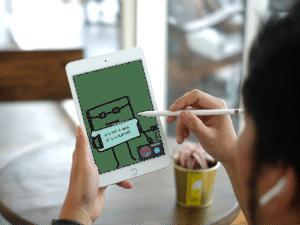 Symbolbild: Mit dem Apple Pencil auf dem iPad schreiben