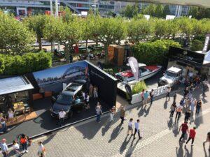 Bild: Außengelände Messe Frankfurt während der IAA 2019 im September