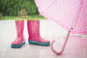 Symbolbild: Regen über Regen - Wettervorhersage